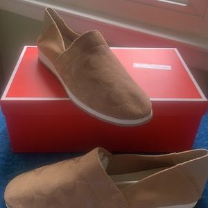 Woman's Suede Coach Loafers. Size 9 1/2.